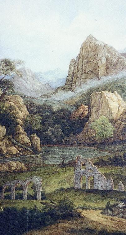 043 Пейзаж с руинами в стиле старых мастеров 1
