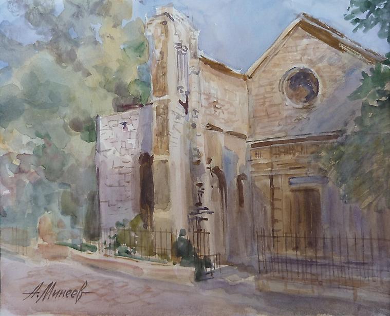 050 Париж. Церковь Сен-Жюльен