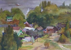 055  Днепропетровск. Вид на Днепр