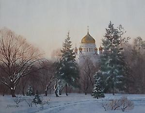 030 Москва. Вид на Храм Христа Спасителя