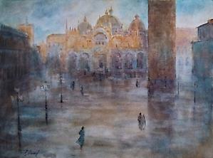 018 Венеция. Площадь Сан-Марко после дождя