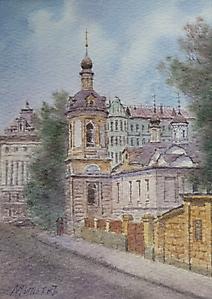 028 Москва. Церковь Антипия на Колымажном дворе.