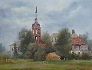 069 Заозерье. Вид на Церковь Казанской Божьей Матери