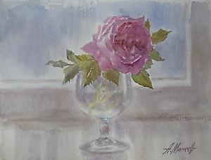 033 Дикая роза в бокале