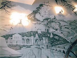 005 Руины. Роспись стен