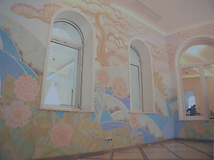 023 Роспись стен в стиле Ар-деко