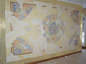 031 Роспись стены спальни в восточном стиле