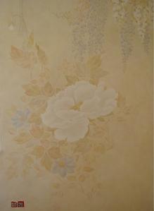 035 Роспись стен спальни. Фрагмент